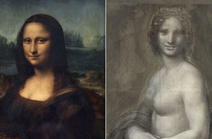 Во Франции найдена обнаженная Мона Лизи