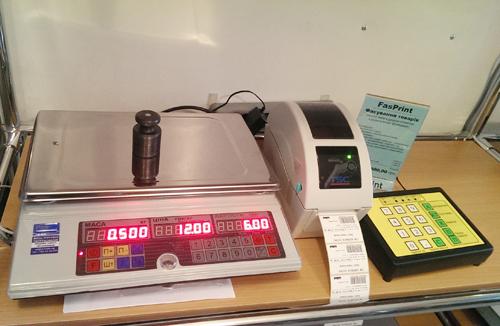 Весы с печатью этикеток для продуктов