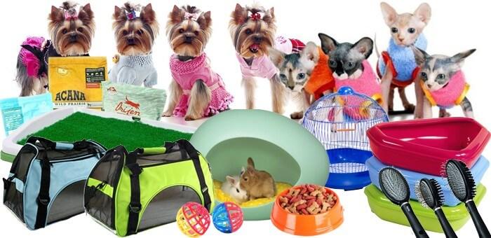 Различные товары для животных