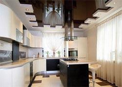 Какие натяжные потолки должны быть на кухне