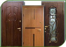 Красивые стальные двери с отделкой шпоном и пластиком