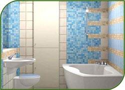 Мозаика сделает каждую ванну роскошной