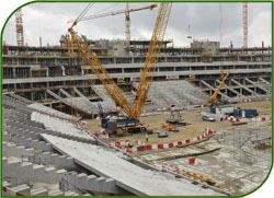 На стадионе «Динамо» не было выявлено нарушений, реконструкция продолжится