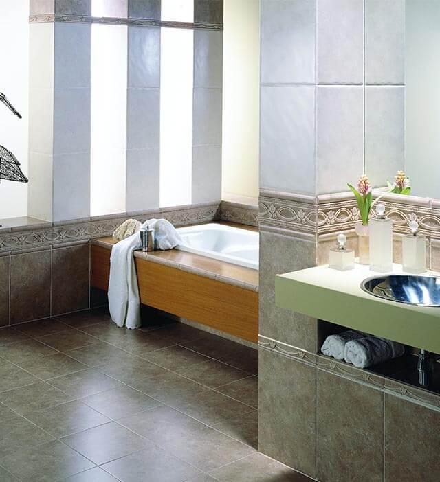 Выбор керамической плитки для ванной
